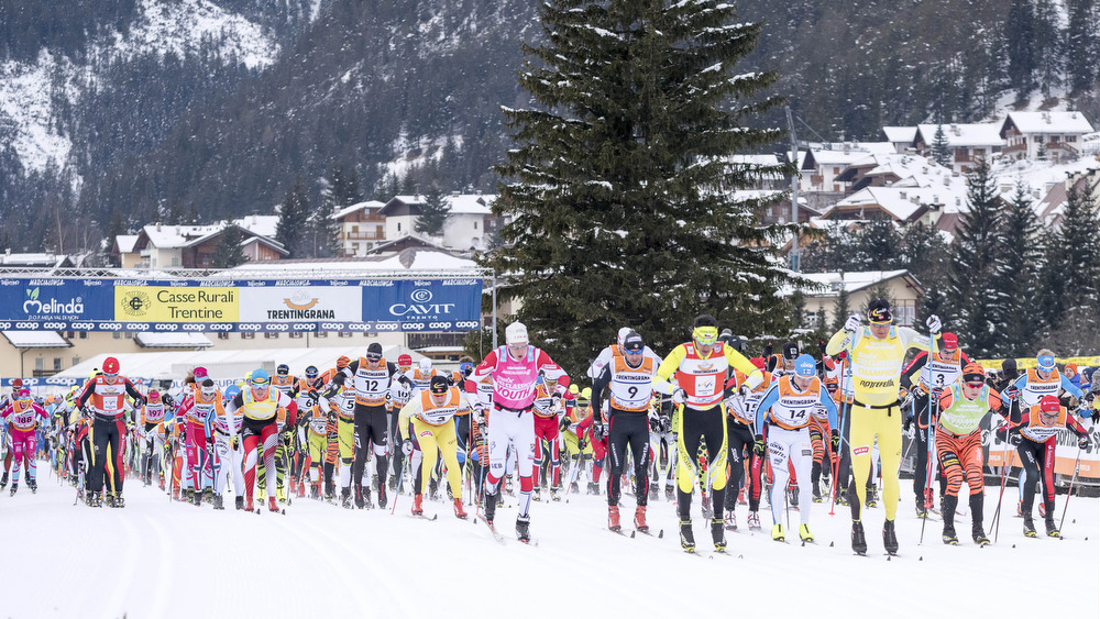 25.01.2015, Val di Fassa/Val di Fiemme, Italy (ITA): start of the race - FIS Marathon Cup Marcialonga, Val di Fassa/Val di Fiemme (ITA). www.nordicfocus.com. © Oesth/NordicFocus. Every downloaded picture is fee-liable.