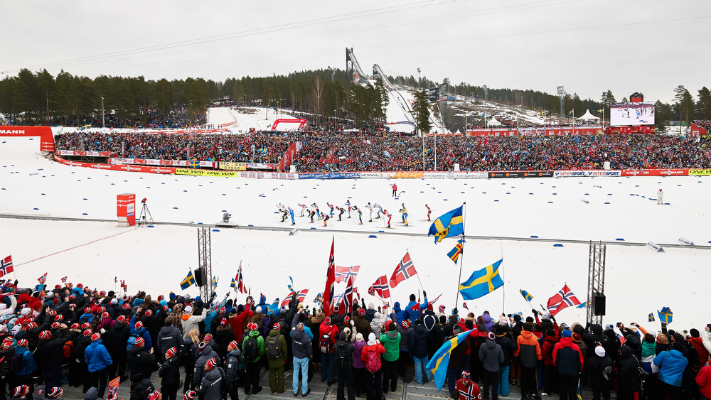 27.02.2015, Falun, Sweden (SWE): the men's start - FIS nordic world ski championships, cross-country, 4x10km men, Falun (SWE). www.nordicfocus.com. © NordicFocus. Every downloaded picture is fee-liable.