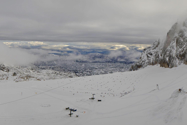 schneehöhe dachstein