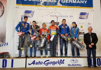 Die Medaillengewinner der deutschen Skimarathon Meisterschaft 2016