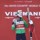 Federico Pellegrino (ITA)  feiert den Sprintweltcup