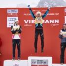 Ingvild Flugstad Oestberg (NOR), Therese Johaug (NOR), Heidi Weng (NOR), (l-r)