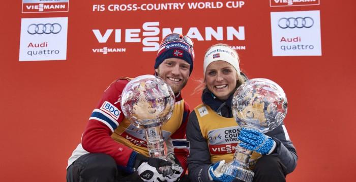 Martin Johnsrud Sundby (NOR), Therese Johaug (NOR) (l-r)