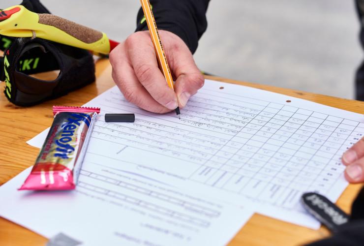Ein wichtiger Bestandteil: das Ausfüllen der Bewertungsbögen.
