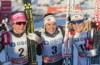 Maiken Caspersen Falla (NOR), Heidi Weng (NOR), Hanna Falk (SWE), (l-r)