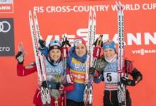Ingvild Flugstad Oestberg (NOR), Heidi Weng (NOR), Krista Parmakoski (FIN), (l-r)