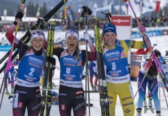 Ingrid Landmark Tandrevold (NOR), Tiril Eckhoff (NOR), Hanna Oeberg (SWE)