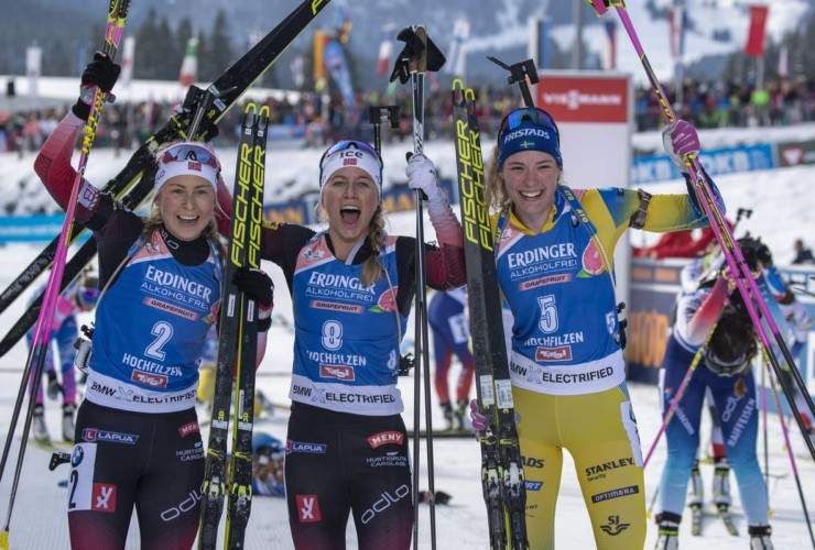 Ingrid Landmark Tandrevold (NOR), Tiril Eckhoff (NOR), Hanna Oeberg (SWE)
