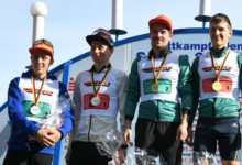 Deutsche Meisterschaften Nordische Kombination: Fabian Rießle und Manuel Faißt gewinnen zum dritten Mal in Folge die Teamsprint-Wertung.