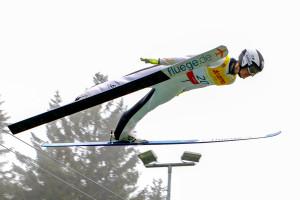 Matteo Baud gewann das Springen.