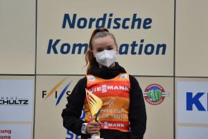 Minja Korhonen (FIN) feierte einen ersten und einen zweiten Platz beim FIS Youth Cup in Oberhof.