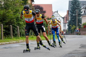 Terence Weber (vorne) lief lange in der Spitzengruppe.