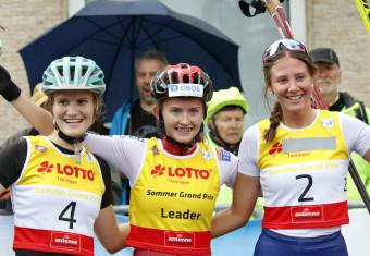 Die Siegerinnen: Ema Volavsek, Gyda Westvold Hansen und Annika Sieff.