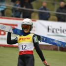 Ema Volavsek aus Slowenien beweist ihre gute Form.