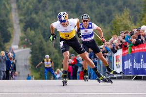 Vinzenz Geiger kommt vor Mario Seidl ins Ziel.