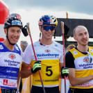 Die drei Erstplatzierten: (l-r) Mario Seidl (AUT), Vinzenz Geiger (GER), Ilkka Herola (FIN).