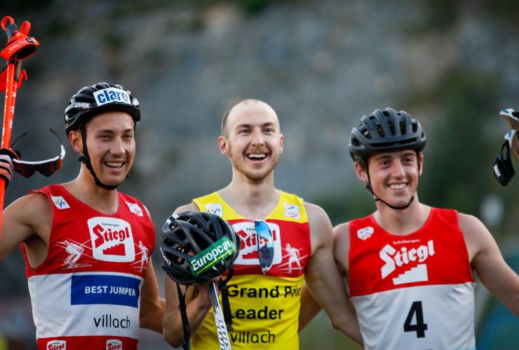 Die drei Bestplatzierten hatten gut lachen.