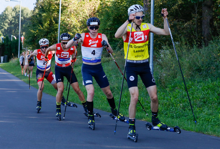 Das Spitzenquartett: (l-r) Martin Fritz (AUT), Mario Seidl (AUT), Jens Oftebro (NOR), Ilkka Herola (FIN).