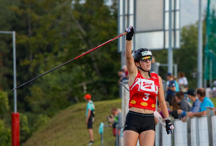 Lisa Hirner erobert Platz drei.
