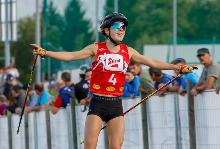 Sigrun Kleinrath freut sich auch über den vierten Platz.