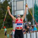 Annalena Slamik (AUT) freute sich über Platz 2 beim Heimwettbewerb.