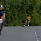 Gyda Westvold Hansen kommt in Villach als erste ins Ziel.